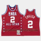 Camiseta Alex English 2 Denver Nuggets All Star 1988 Rojo Hombre