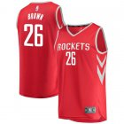 Camiseta Markel Brown 26 Houston Rockets Icon Edition Rojo Nino
