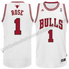 equipacion nba derrick rose #1 chicago bulls rev30 blanca