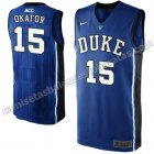 camisetas ncaa duke university jahlil okafor #15 azul