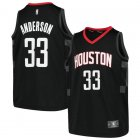 Camiseta Ryan Anderson 33 Houston Rockets Fast Break Replica Negro Nino