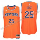 equipacion derrick rose 25 new york knicks 2016 naranja