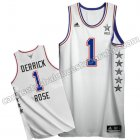 camisetas baloncesto derrick rose #1 nba all star 2015 blanca