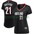 Camiseta Hassan Whiteside 21 Portland Trail Blazers icon edition Negro Mujer
