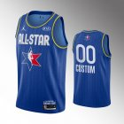 camiseta Custom #0 nba all star 2020 azul