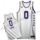 camisetas baloncesto kevin love #0 nba all star 2015 blanca
