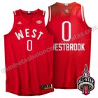 equipacion baloncesto russell westbrook #0 nba all star 2016 roja