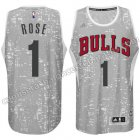 equipacion derrick rose #1 chicago bulls luces gris