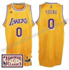camiseta nick young 0 los angeles lakers 2016-2017 amarillo