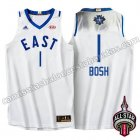 camisetas baloncesto chris bosh #1 nba all star 2016 blanca
