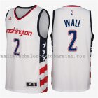 camiseta john wall 2 washington wizards 2016-17 blanca