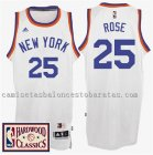 camiseta derrick rose 25 new york knicks 2016-2017 blanca