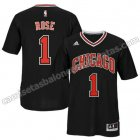 camisetas nba chicago bulls con derrick rose #1 negro