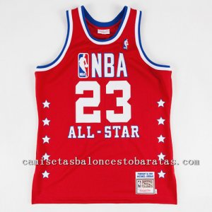 Camiseta Michael Jordan Nba All Star 1989 Roja