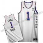 camisetas baloncesto chris bosh #1 nba all star 2015 blanca
