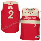 camisetas john wall #2 washington wizards navidad 2015 roja