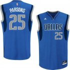 Camiseta Chandler Parsons 25 Dallas Mavericks adidas Azul Nino