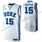 camisetas ncaa duke university jahlil okafor #15 blanca