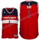 camiseta de dad logo 1 washington wizards 2015-2016 roja