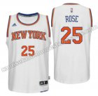 equipacion derrick rose 25 new york knicks 2016 blanca