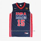 camisetas de baloncesto carmelo anthony #15 nba usa 2012 azul