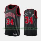 Camiseta Wendell Carter Jr. 34 Chicago Bulls Statement Rayado Negro Hombre