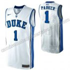camisetas ncaa duke university jabari parker #1 blanca