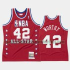 Camiseta James Worthy 42 Los Angeles Lakers All Star 1988 Rojo Hombre