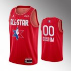 camiseta Custom #0 nba all star 2020 rojo