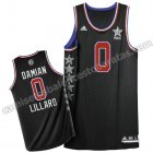 camiseta baloncesto damian lillard #0 nba all star 2015 negro