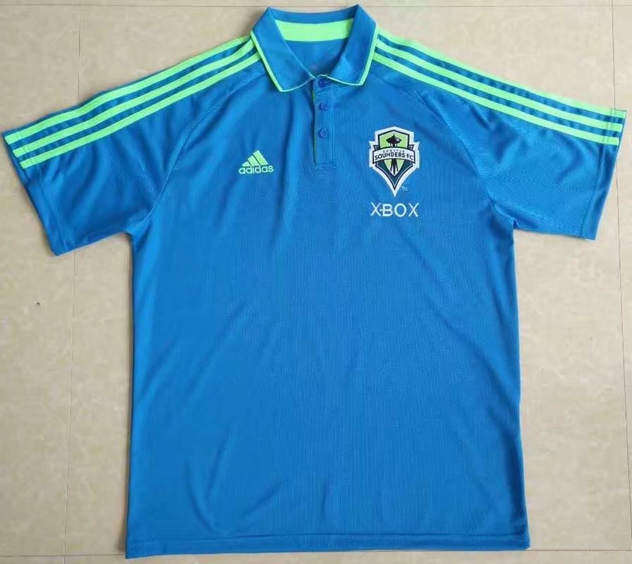 Camiseta baratas POLO Seattle Sounders 2017 azul