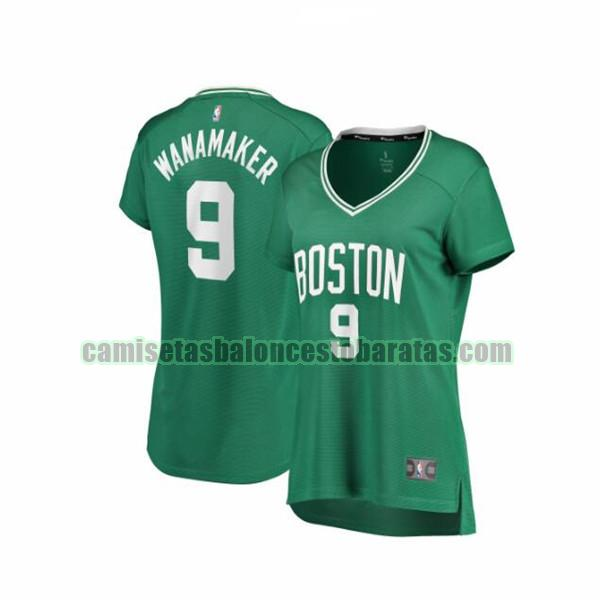 Camiseta Brad Wanamaker 9 Boston Celtics icon edition Verde Mujer