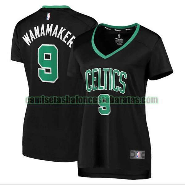 Camiseta Brad Wanamaker 9 Boston Celtics statement edition Negro Mujer