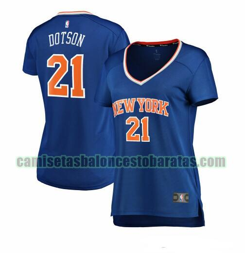 Camiseta Damyean Dotson 21 New York Knicks icon edition Azul Mujer