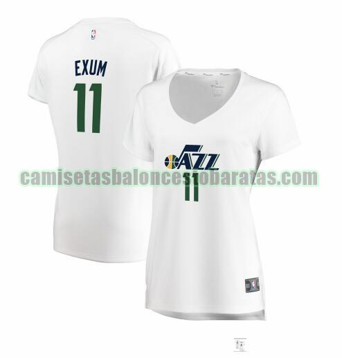 Camiseta Dante Exum 11 Utah Jazz association edition Blanco Mujer
