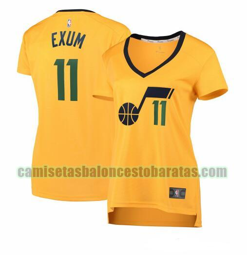 Camiseta Dante Exum 11 Utah Jazz statement edition Amarillo Mujer