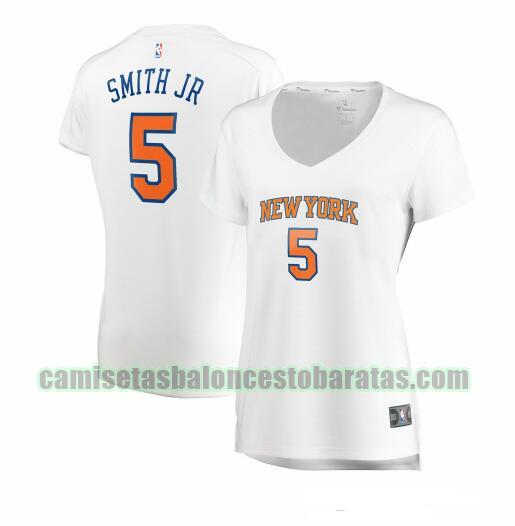 Camiseta Dennis Smith Jr. 5 New York Knicks association edition Blanco Mujer