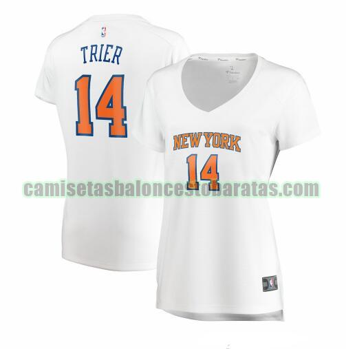Camiseta Elfrid Payton 14 New York Knicks icon edition Azul Mujer