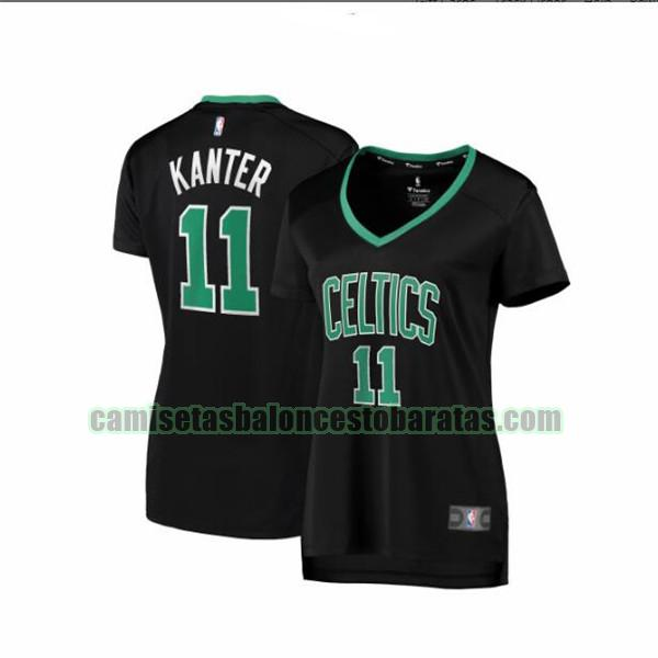 Camiseta Enes Kanter 11 Boston Celtics statement edition Negro Mujer