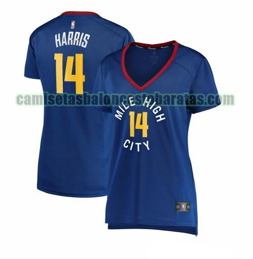 Camiseta Gary Harris 14 Denver Nuggets statement edition Azul Mujer