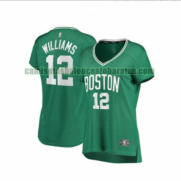 Camiseta Grant Williams 12 Boston Celtics icon edition Verde Mujer