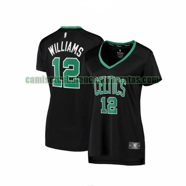 Camiseta Grant Williams 12 Boston Celtics statement edition Negro Mujer