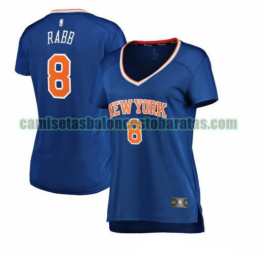 Camiseta Ivan Rabb 8 New York Knicks icon edition Azul Mujer