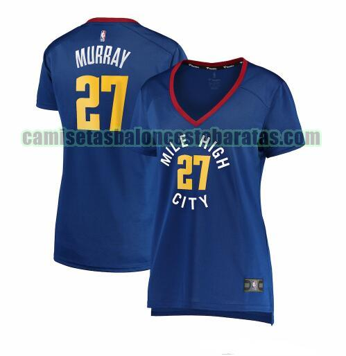 Camiseta Jamal Murray 27 Denver Nuggets statement edition Azul Mujer