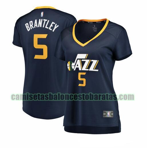 Camiseta Jarrell Brantley 5 Utah Jazz icon edition Armada Mujer