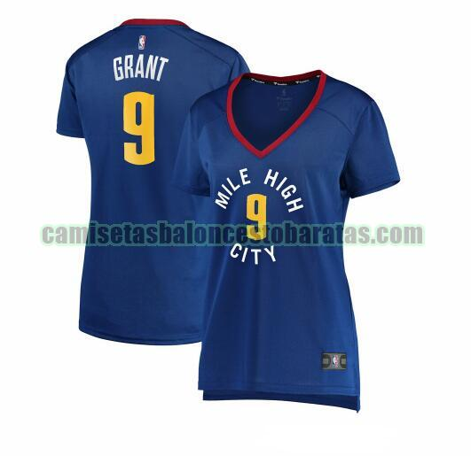 Camiseta Jerami Grant 9 Denver Nuggets statement edition Azul Mujer