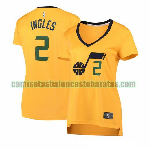Camiseta Joe Ingles 2 Utah Jazz statement edition Amarillo Mujer