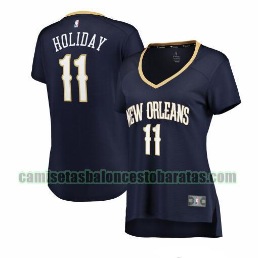 Camiseta Jrue Holiday 11 New Orleans Pelicans icon edition Armada Mujer