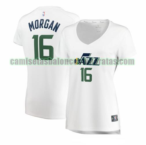 Camiseta Juwan Morgan 16 Utah Jazz association edition Blanco Mujer