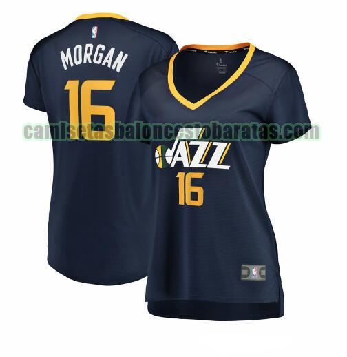 Camiseta Juwan Morgan 16 Utah Jazz icon edition Armada Mujer